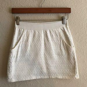 Silence + Noise white textured mini skirt